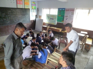 Mr. Neeraj Singh and Mr. Tenzin Norsang( Peer Coaching) Maths Class VIII